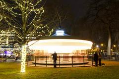 Christmas Carousel (joscelyn_p) Tags: christmas carousel christmaslights philadelphia philly visitphilly canon lightroom longexposure longexpo night christmasdecorations pa pennsylvania