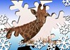 Here's looking at you kiddo. Happy Christmas 2017 to all Flickr friends (Englepip) Tags: giraffe snowflake border christmas greeting oxpecker bird