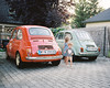 Teeny tinys. (Thomasaurus) Tags: steyr puch 500 fiat austria car film mamiya analog hungary balaton auto 2cylinder