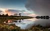altnahinch dam (PATRICK.69) Tags: dam water sky sunset snowy cold glenbush