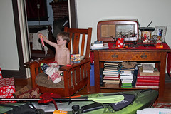 christmas2017morning (babyfella2007) Tags: dagger kayak perception pescador christmas 2017 boat boats jason taylor michelle grant carson child santa clause pajamas arts crafts victorian mantle fireplace piece rocking chair morris radio antique paddle tree present winnsboro sc south carolina boys old young mom river mission craftsman table library interior