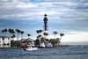 hillsboro lighthouse (rosserx) Tags: lighthouse hillsboro inlet southflorida water beach boat palm tree