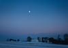 moonfarm (Jen MacNeill) Tags: night evening field farm rural snow winter cold moon blue hour pa pennsylvania