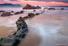 Playa de Muriola (Rubenuco) Tags: rocas agua cala calamuriola barrika bizkaia ngc cielo seda españa rubéncaneda atardecer