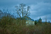 Another grey day (stellagrimsdale) Tags: grey landscape winter trees bushes monor tower claybury park clayburypark sky clouds greyday