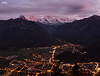 Interlaken (JaviJ.com) Tags: mountain peak range hill ridge snowcapped landscape alpenglow valley scenic scenery fog night city town ciudad javijurban javijlandscape paisaje ligths alps alpes monch jungfrau suiza helvetia sunset red colors clouds