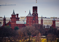 Smithsonian Castle viewed from The Newseum - Washington DC (mbell1975) Tags: washington districtofcolumbia unitedstates us smithsonian castle viewed from the newseum dc washingtondc usa america american museum museo musée musee muzeum museu musum müze museet