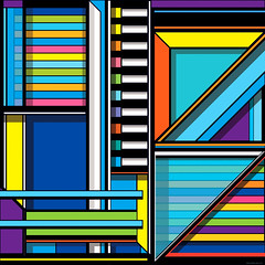 J.236 (Marks Meadow) Tags: abstract abstractart geometric geometricart design abstractdesign neogeo color pattern illustrator vector vectorart hardedge vectordesign interior architecture architectural blackwhite surreal space perspective colour asymmetry structure postmodern element cubism technology technical diagram composition aesthetic constructivism destijl neoplasticism decorative decoration layout postmabstract contemporaryodern contemporary