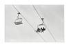 Chairlift (OliverJohnFernandez) Tags: blackandwhite skiing film 35mm kentmere ilford kodak pentax epsonv550 homescan homedeveloped adox rodinal minimal minimalmood grain blackandwhitefilm primelens 50mm