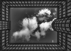 Sprinkenhof 5 (digital_underground) Tags: hamburg building architecture sky clouds blackwhite blackdiamond germany
