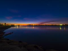 Blue hour (dayonkaede) Tags: today morning sunrise ocean estuary water river solar olympus em1markii m714mm f28 sunset sea bluehour