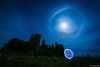 New Slains Castle with Orb & Moon Halo (john&mairi) Tags: new slains castle cruden bay aberdeenshire scotland uk ruins derelict haunted night nocturnal moon halo moonbow orb lightpainting