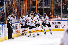 """Kansas City Mavericks vs. Kalamazoo Wings, January 5, 2018, Silverstein Eye Centers Arena, Independence, Missouri.  Photo: © John Howe / Howe Creative Photography, all rights reserved 2018. • <a style=""""font-size:0.8em;"""" href=""""http://www.flickr.com/photos/134016632@N02/38869557094/"""" target=""""_blank"""">View on Flickr</a>"""