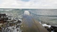 Wind over Visby! (mpersson60) Tags: sverige sweden gotland visby hav sea blåst wind brygga bridge