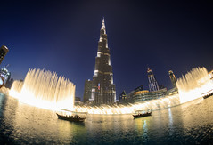 Dubai, United Arab Emirates - Burj Khalifa (GlobeTrotter 2000) Tags: dubai fountain uae unitedarabemirates blue burj burjkhalifa hour khalifa mall tourism travel visit