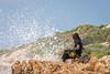 sitting right by the sea (hjuengst) Tags: plettenbergbay beach wave water foam spray rock