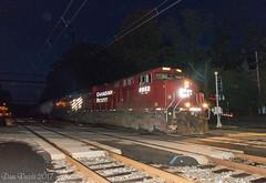 Fashionably Late (Dan A. Davis) Tags: csx freighttrain locomotive railroad train woodbourne pa pennsylvania cp canadianpacific cefx k602 es44ac ac44cw