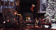 The joy of brightening other lives, bearing each others' burdens, easing each others' loads and supplanting empty hearts and lives with generous gifts becomes for us the magic of Christmas. (Skippy Beresford) Tags: boy child childhood children kids christmas warmth hearth heart tree cookies fireplace home friendship holiday spirit light love community