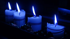 Clear blue flame (In explore) (Steenjep) Tags: lys candle flamme flame