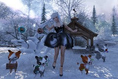 #200 Winter Wonderland (Saar Whitfield) Tags: secondlife avatar virtual theimaginarium gacha yokai ag refuge {limerence} 187 photography slblog winter deciduous kawaii cute gimmegacha valekoer villena