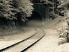 Hoosac Tunnel Vapors (Professor Bop) Tags: olympuse5 hoosactunnel massachusetts professorbop drjazz rails railroad railway tunnel monochromactic monochrome berkshires mosca