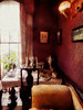 The Dining Room (Steve Taylor (Photography)) Tags: dining table candle candlestick chaiselongue wallpaper plate knifeandfork urn lap curtain art digital window tableandchairs chair curtains cloth uk gb england greatbritain unitedkingdom london plant 221b 221bbakerstreet bakerstreet sherlockholmes sherlockholmesmuseum