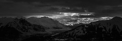 Un Nouveau Jour en Maurienne 2/2 (N/B) (Frédéric Fossard) Tags: landscape sky nuages clouds merdenuages lumière ombre light shadow matin dawn morning aurore aube vallée valley alpes savoie vanoise maurienne neige snow snowcapped hiver winter montagne mountain panorama monochrome noiretblanc blackandwhite alpenglow mountainrange mountainridges cimes crêtes flancdemontagne mountainside sunrise leverdujour leverdesoleil