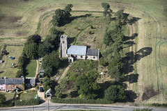 Aerial of Ilketshall St Lawrence Church in - Suffolk (John D Fielding) Tags: ilketshall church suffolk aerial above nikon d810 churches norman medieval flint viewfromplane highdefinition highresolution hidef hirez hires aerialimage aerialphotography aerialview aerialimagesuk aerialphotograph britainfromabove britainfromtheair