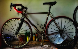 The grunge of racing bike maintenance.