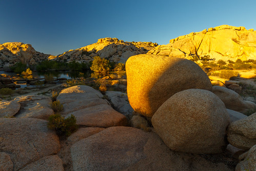 Sunset at Barkers Dam in Joshua Tree NP