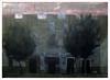 """Viejas casas de vecinos de la Puerta Osario al atardecer. 1968 (""""GALBA"""") Tags: dibujo tinta palillo papel sevilla pensión edificio arquitectura paisaje lápiz calle"""