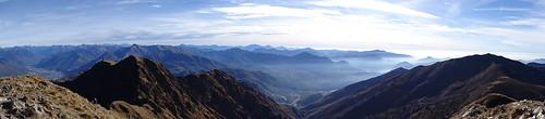 Panorama in Richtung Südtessin