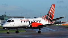 G-LGNG (AnDyMHoLdEn) Tags: loganair saab saab340b egcc airport manchester manchesterairport 23l