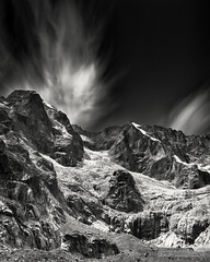 Time Slows down for Glaciers [explored 2018-01-08] (John Fÿn Photography) Tags: bw blackandwhite cold d810 europe gray grey ice longexposure mono monochrome nikon nikonfx outdoor river sky snow snowing stone switzerland white alps altitude bitter bleak brisk chilled cloud cool crag crisp elevation foothills frigid frosty frozen glacier hill icy intense landscape mountain mountainrange peak peaks polarised polariser polariserfilter polarized polarizer polarizerfilter range raw ridge riverbank rocks snowy stream valley wintry orsières valais ch