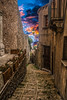 Tra i vcoli di Erice (ilsiciliano_) Tags: erice sicilia trapani sunset street strada colours canon 60d paese europe word red ellow blue