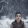 Wonderment (KelsieTaylor) Tags: girl woman female snow snowy winter portrait portraiture narrative snowfall snowstorm vest movement motion brunette whimsical ethereal airy atmospheric light trees beautiful