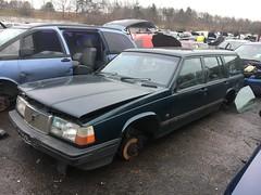 940L (Sam Tait) Tags: volvo 940 945 estate green wagon retro rare 23 l scrapyard junk junkyard na spares