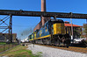 NERR 5938, Radnor Cutoff Bridge, 11-14-17 (mikeball1374) Tags: nashvilleandeastern nerr nashville tennessee train transportation trainphotography trains railfanning railroad ge b408 photography bridge locomotive csx shortline freighttrain trestle