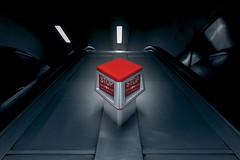 STOP I STOP (Blende1.8) Tags: london tube metro ubahn untergrund underground escalator rolltreppe dark darkness red rot kontrast symmetry symmetrie carstenheyer urban