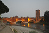 Evening at the bridge in Verona EXPLORED (Vee living life to the full) Tags: verona nikond300 night view lights people bridge reflections darkness twighlight sunset evening photography dim light ambience dark european europe outrips