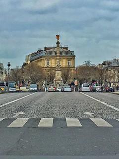 Paris  France - Place de la Bastille -  Historic Monument