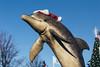 Merry Christmas from Avalon, NJ (Dalliance with Light (Andy Farmer)) Tags: jersey beach statue avalon xmas nj porpoise christmas santa shore newjersey unitedstates us dolphin