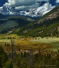 Somewhere in Rocky Mountain National Park (HarrySchue) Tags: nationalparks rockymtnationalpark nikon nature mountains streams valley sky clouds rockymountains estespark colorado landscape d800e reallyrightstuff trees