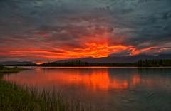 Dawn of a New Year (Philip Kuntz) Tags: 2018 newyear dawn sunrise sunup daybreak canoeist reflections boyalake britishcolumbia canada