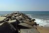 Los Angeles - Breaker (Drriss & Marrionn) Tags: willrogersstatebeach sky bluesky beach baywatch losangeles losangelesca la california usa citytrip coast ocean sea water rock breaker sand blue