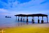 The broken bridge at Kozhikode Beach (lone_enfielder) Tags: beach kozhikode calicut sea sunset india kerala outdoor sony sonya6000 sonyalpha