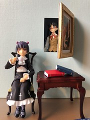 Secret Passages (Sasha's Lab) Tags: kuroneko 黒猫 ruri gokou 五更瑠璃 oreimo rin tohsaka 遠坂 凛 fatestay night secret passage painting teen gothic lolita girl tea figma