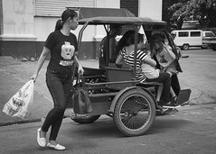 Mommy (Beegee49) Tags: street public transport children tricycle filipina carrying shopping bacolod city philippines