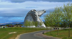 The Kelpies in the Helix Falkirk. (Eddie Crutchley) Tags: europe uk scotland falkirk thehelix outdoor park thekelpies art sculpture simplysuperb greatphotographers