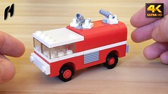 How to Build a Small and Simple Lego Fire Truck (MOC - 4K) (hajdekr) Tags: lego buildingblocks assemblyinstructions guide buildingguide tuto tutorial tip help tips stepbystep inspiration design manual moc myowncreation instruction instructions toy model buildingbricks bricks brick builder buildingtoy fire truck vehicle car automobile heavy heavytruck firetruck rotatingwatercannon rotating watercannon water cannon fireengine kidsvideos kids